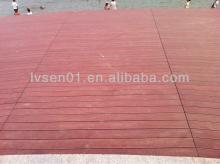 Hollow wpc decking for outdoor decoration composite weather resistance environment friendly wood-pla