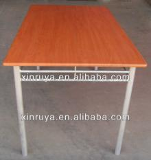 wood  and steel dining  table