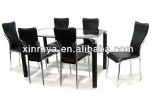 Metal furniture-PU &chrome dining sets