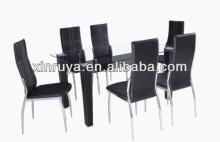 dining set with powder coating of living room