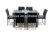 Newly US leather cover glass dining room furniture dining set
