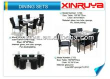 Modern Glass Dining Set for Living Room  Furniture