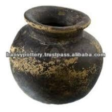 Antique black clay pot