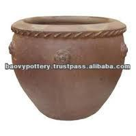 Large black clay pot, Tall dark clay pot, Giant Outdoor Pots
