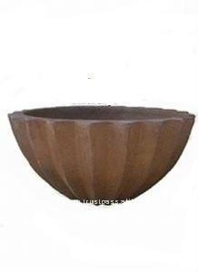 AQG Large black clay pot- Tall dark clay pot- Giant Outdoor Pots