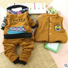 The winter latest children suit The  cute  cartoon three-piece suit of the boys
