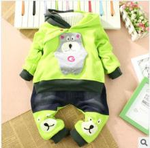The winter latest children suit The cute cartoon bear suit design of the the kids