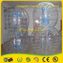 Custom  hot sale bubble football  inflatable   pvc  body zorbing ball