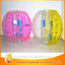inflatable soccer bubble foot ball   rubber  toy half  ball s bumper soccer tpu