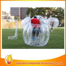 Colorful slide human bubble football ball can be used at park
