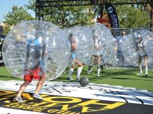 Customized bubble football inflatable for fun