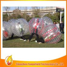 Colorful slide bubble football / loopy football match can be used at home
