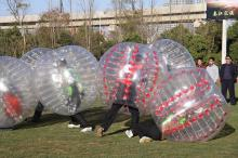 Funny inflatable bubble football field can be used at home