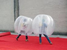 Funny inflatable bubble football can be used at park