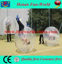 100% 0.80mm TPU human bubble football inflatable body bumper ball