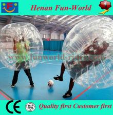 Best quality 0.1mm PVC/TPU bubble ball pour le football for sale