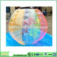 Color inflatable soccer bubble/glass bubble ball for adult and kid
