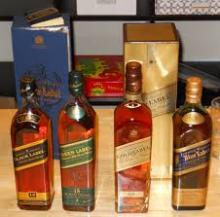 Johnny Walker Black Label, Blue Label Red Label, Double Black