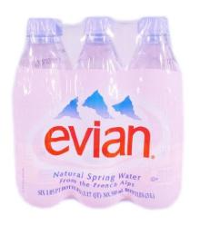 Evian Natural Spring drinking water