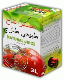100% natural apple juice
