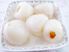 2014 Hottest Candied Canned Lychee Peeled for Quic