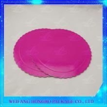 scalloped edge pink cardboard cake base board