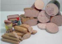 Chicken luncheon, Pork luncheon, Beef Luncheon Meat, canned meat