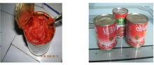 canned tomato paste in tin