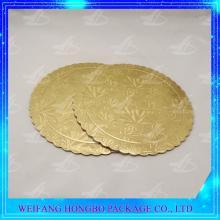 scalloped edge gold cake base/cake board