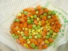 mixed veg.of green peas,sweet corn kernels and diced carrot
