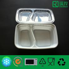 Two Compartments Clear Plastic Food Container 1000ml