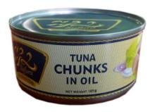 canned tuna chunks in vegetable oil