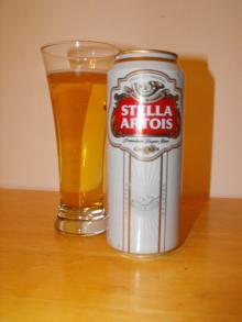 Stella Artois lager beer from Belgium