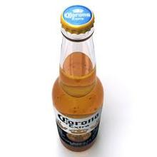BOTTLES AND CANS CORONA EXTRA BEER
