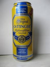 Oettinger Hefeweiss Bier , 500ml Can.