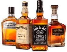 Jack Daniels whisky, Siders, cola and others