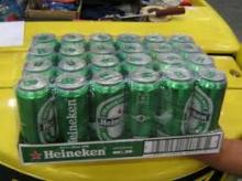 Heineken Beer Cans and Bottles