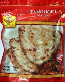 Frozen Halal Tandoori Naan bread