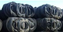 Baled tyres scrap baled tires waste tire