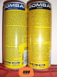Bomba energy drinks
