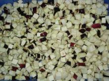 Frozen eggplants