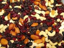 Mixed dried fruits and dried fruits of all varieties